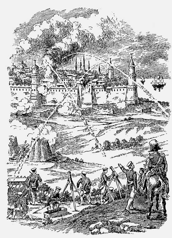 Обстрел ракетами крепости Варна