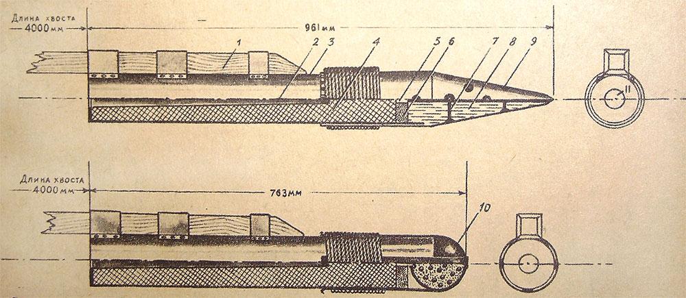 Устройство ракеты Засядко